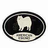Euro Style Oval Dog Decal American Eskimo Dog