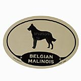 Euro Style Oval Dog Decal Belgian Malinois