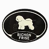 Euro Style Oval Dog Decal Bichon Frise