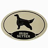 Euro Style Oval Dog Decal Irish Setter