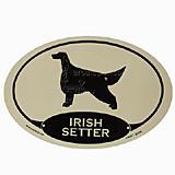 Euro Style Oval Dog Decal Irish Setter