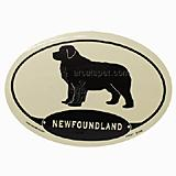 Euro Style Oval Dog Decal Newfoundland