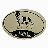 Euro Style Oval Dog Decal Saint Bernard