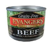 Evanger's Beef Canned Dog and Cat Food 6 oz