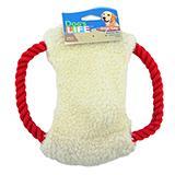 Fleece N Rope Frisbee Dog Toy