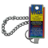 Coastal Titan Chrome Steel Dog Choke Chain Fine 12 inch