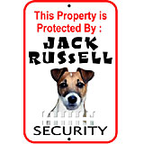 Sign Jack Russell Security 12 x 18 inch Aluminum