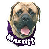 6-inch Vinyl Dog Decal Mastiff Picture