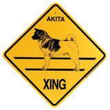 Xing Sign Akita Plastic 10.5 x 10.5 inches