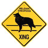Xing Sign Belgian Sheepdog  Plastic 10.5 x 10.5 inches