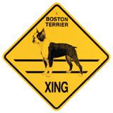 Xing Sign Boston Terrier Plastic 10.5 x 10.5 inches