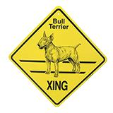 Xing Sign Bull Terrier Plastic 10.5 x 10.5 inches