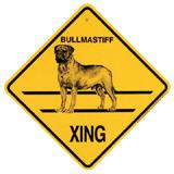 Xing Sign Bull Matiff Plastic 10.5 x 10.5 inches