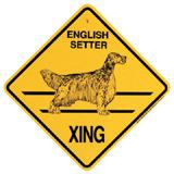 Xing Sign English Setter Plastic 10.5 x 10.5 inches