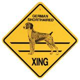 Xing Sign German Shorthaired Plastic 10.5 x 10.5 inches