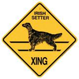 Xing Sign Irish Setter Plastic 10.5 x 10.5 inches