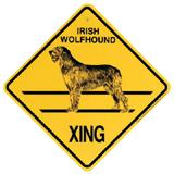 Xing Sign Irish Wolfhound Plastic 10.5 x 10.5 inches