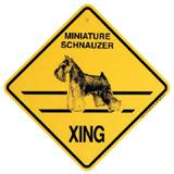 Xing Sign Minature Schnauzer Plastic 10.5 x 10.5 inches