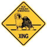 Xing Sign Old English Sheepdog Plastic 10.5 x 10.5 inches