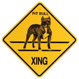 Xing Sign Pit Bull Plastic 10.5 x 10.5 inches