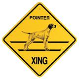Xing Sign Pointer Plastic 10.5 x 10.5 inches