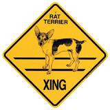 Xing Sign Rat Terrier Plastic 10.5 x 10.5 inches