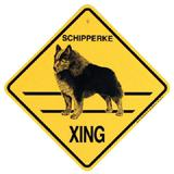 Xing Sign Schipperke Plastic 10.5 x 10.5 inches
