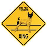 Xing Sign Toy Fox Terrier Plastic 10.5 x 10.5 inches