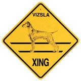 Xing Sign Vizsla Plastic 10.5 x 10.5 inches
