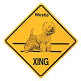 Xing Sign Westie Plastic 10.5 x 10.5 inches