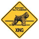 Xing Sign Bouvier des Flandres Plastic 10.5 x 10.5 inches