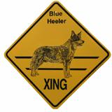 Crossing Sign Blue Heeler Xing
