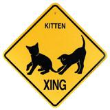 Crossing Sign Kittens Xing