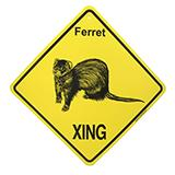 Crossing Sign Ferret Xing