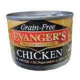 Evanger's Chicken Canned Dog and Cat Food 6 oz
