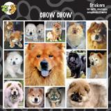 Arf Art Dog Sticker Pack Chow Chow