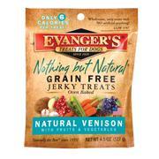 Evangers Nothing But Natural Venison Jerky 4.5 oz Dog Treat