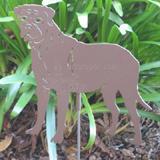 Haute Steel Garden Stake Bull Mastiff