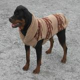 Handmade Dog Sweater Wool Tan Shawl XXSmall
