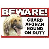 Sign Guard Afghan On Duty 8 x 4.75 inch Laminated Cardstock