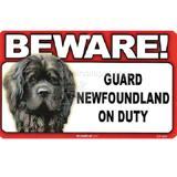 Sign Guard Newfoundland On Duty 8 x 4.75 inch Laminated