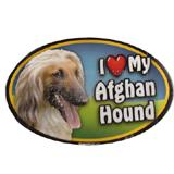 Dog Breed Image Magnet Oval Afghan Hound