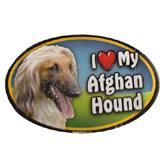 Dog Breed Image Magnet Oval Afghan Hound