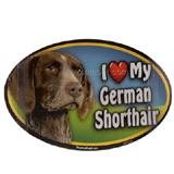 Dog Breed Image Magnet Oval German Shorthair Pointer