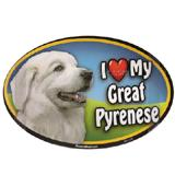 Dog Breed Image Magnet Oval Great Pyrenese