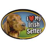 Dog Breed Image Magnet Oval Irish Setter