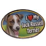 Dog Breed Image Magnet Oval Jack Russell
