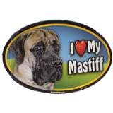 Dog Breed Image Magnet Oval Mastiff