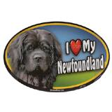 Dog Breed Image Magnet Oval Newfoundland