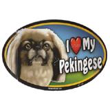 Dog Breed Image Magnet Oval Pekingese